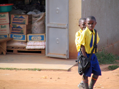 School kids in Uganda