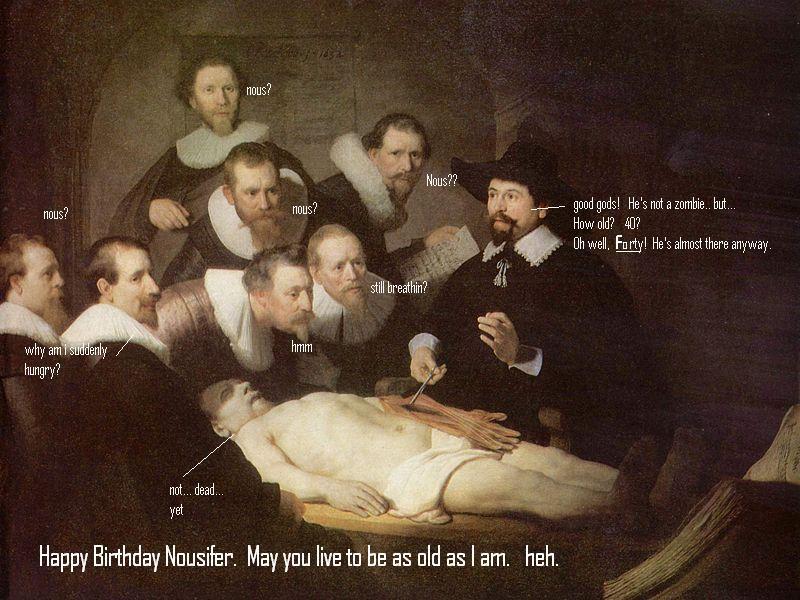 Rembrandt meets nous