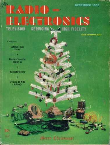 Radio Electronics Magazine Cover Christmas Dec 1953 by Whiskeygonebad