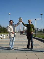 Olga and Larisa in Astana, Kazakhstan (Citt) Tags: road williams travellers silk teacup astana citt