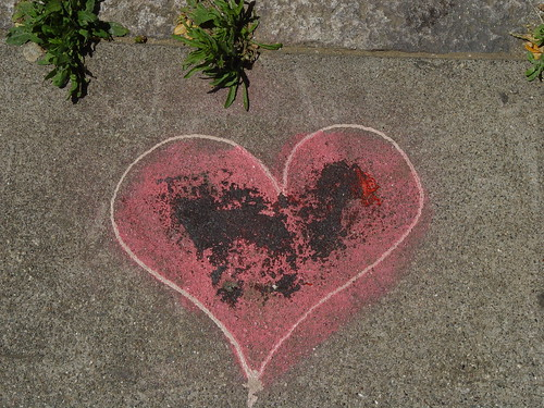 Broken Heart on the Sidewalk by Franco Folini