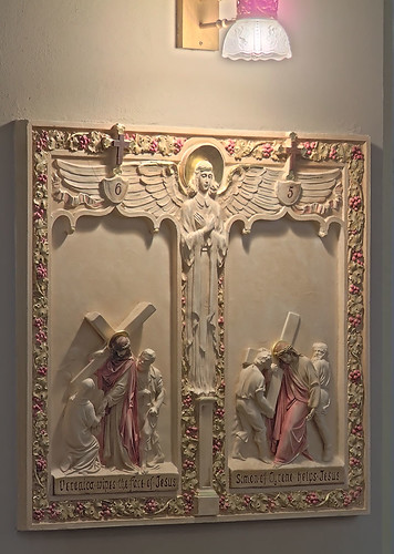 Saint Elizabeth, Mother of John the Baptist Roman Catholic Church in Saint Louis, Missouri, USA - station of the cross 2