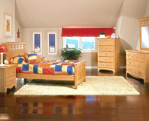 Interior bedroom loft using