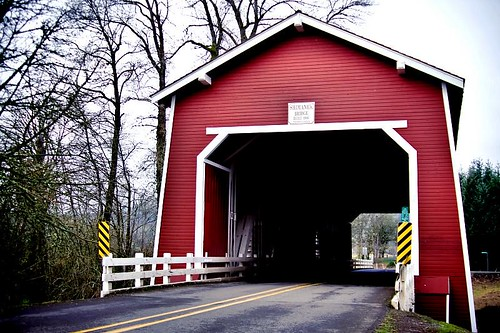 Shimanek Bridge - a covered bridge outside of Scio Oregon