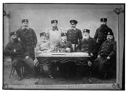 Minister of Ways and Communications & his staff. St. Petersburg (LOC) by The Library of Congress.