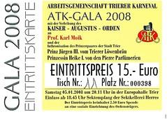 toegangsbewijs atk-gala 2008 (RKDV Sint Hendrien, Afdeling Dansmari's) Tags: sint carnaval trier dansmariekes oeteldonk hendrien dansmaris dansmaries rkdv dansmari