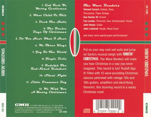 Surfin' Christmas - The Wavebenders (rear)