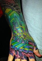 Right Hand Tattoo (HeadOvMetal) Tags: art 2004 tattoo ink austin ouch tattooconvention pain texas hand skin january convention bodymod bodyart atx revival bme staroftexas staroftexastattooartrevival
