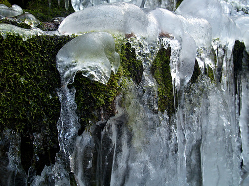 Icy waterfalls