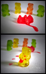 red gummy murder. (*northern star) Tags: gummy bear bears gummybears thesecretlifeofgummybears murder blackdahliamurder redgummymurder red blood killer escape composition crime scene assassinio assassino delitto fuga orsetti gomma splatter sangue zucchero sugar sweet candy candies dolce dolci caramelle explore explored onexplore tititu northernstar northernstarandthewhiterabbit canon northernstar northernstarphotography d allrightsreserved usewithoutpermissionisillegal ifyouwannatakeitforpersonalusesnotcommercialusesjustask donotsteal