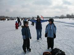 Skating on Dows Lake