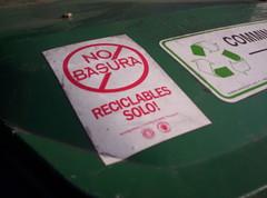 public recycling bin!