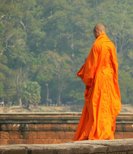 Rippling robes, Angkor Wat