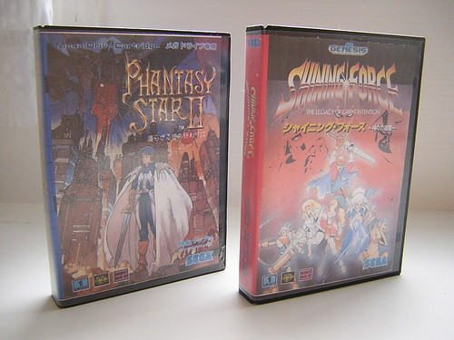 Phantasy Star 2 + Shining Force 1 custom cases - front