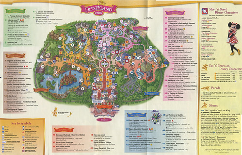 Disneyland Paris Guide Map - Front