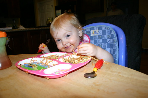 Learning to eat big girl style