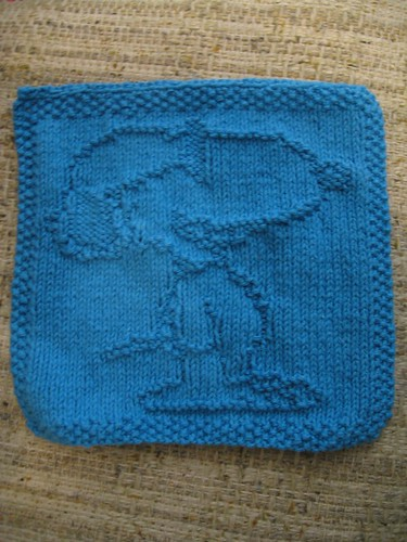 Snoopy Washcloth