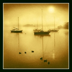 My inner self! (adrians_art) Tags: morning red orange mist water weather yellow misty fog sunrise reflections boats golden bravo shadows lakes foggy silhouettes cumbria windermere supershot justimagine mywinners abigfave infinestyle megashot goldstaraward