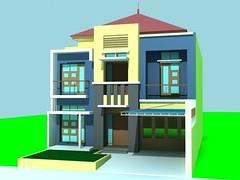Rumah Tinggal 2 Lantai dengan Pergola by Indograha Arsitama Desain  & Build