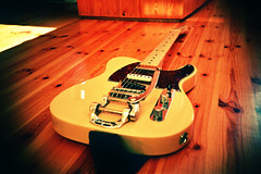 Finished 'Project Telecaster' (Cormac Phelan) Tags: film 35mm lomo lca lomography nashville guitar fender modified tele modification provia vignette electricguitar telecaster phelan cormac killswitch bigsby nashvilletelecaster