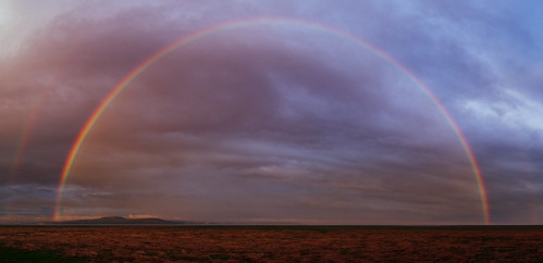 Rainbow over Morecambe Bay