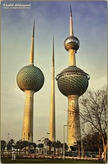 The Kuwait Towers (khalid almasoud) Tags: world club work high eyes photographer quality towers group photographers center science images through kuwait  khalid the voluntary  my  almasoud   kuwaitartphoto tasweerycom