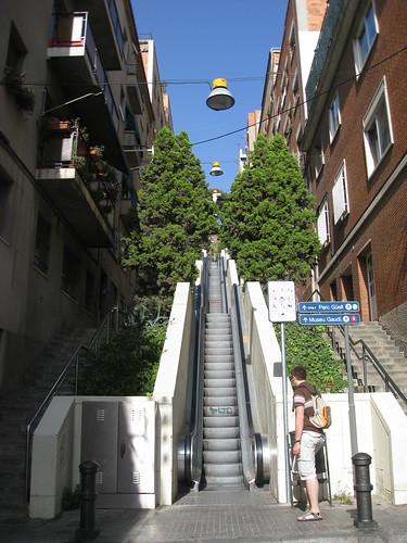 Rolltreppe zum Park Güell