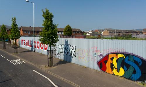 "Belfast City - Street Art ""It's All Good"""