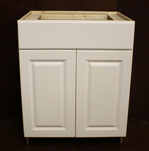 "Kraftmaid White Bathroom Vanity Sink Base Cabinet 27""w"