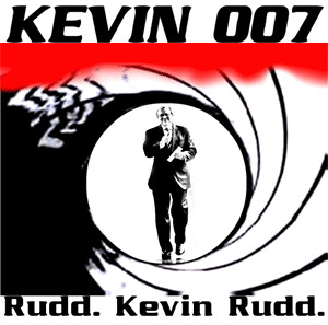 Kevin jako James Bond