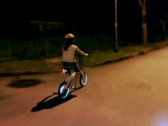 The wife's first time on the Dahon Curve