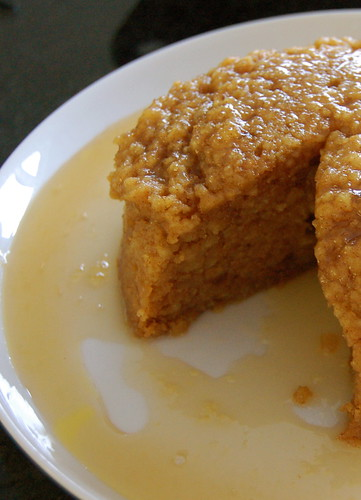 Steamed ginger and orange marmalade pudding