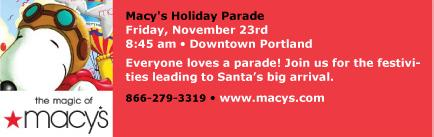 November 23, macy's day parade portalnd, oregon