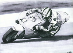 First B&W marker piece, 07 (fatslick70) Tags: art speed blackwhite motorcycle marker