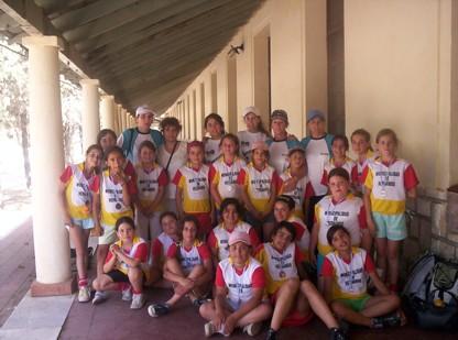Jugadoras, Profesoras y Madres que conformaron la delegación que participo en el Torneo Internacional en Cba.
