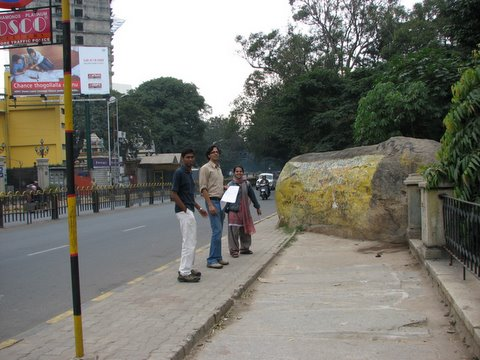 anush, vijay,aparna with BBMP blueprints