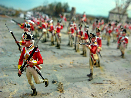 Charge of the redcoats.