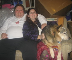 Our lap dog and us