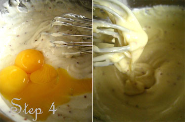 egg yolks and sauce