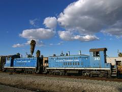 PACIFIC HARBOR LINE (TRUE 2 DEATH) Tags: blue sky clouds la losangeles engine palmtree font locomotive 37 38 portoflosangeles traim pacificharbor pacificharborline