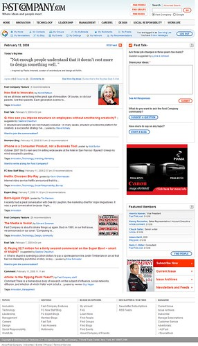 FastCompany.com redesign launched with social (Web 2.0) features (by See-ming Lee 李思明 SML)