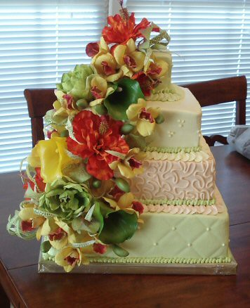 unique tropical wedding cake