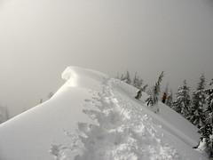 Mt. Catherine summit, Joanna on right