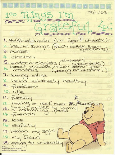 100 Things I'm Grateful for - Page 1
