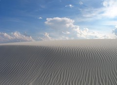 Sand and Sky (Annie~C) Tags: sky white clouds sand nm sands