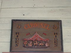 Carousel Sign (Adventurer Dustin Holmes) Tags: old signs sign wooden carved ride carousel mo missouri amusementpark rides branson carousels sdc silverdollarcity