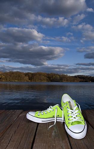 a2e320fe1cd2ac ... lime green chucks  3