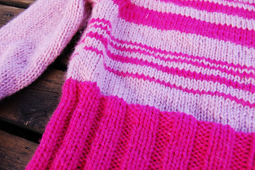 Wool sweater in pink (Copyright Hanna Andersson)