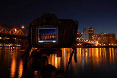 Through Nikon Eyes (Gigapic) Tags: usa night oregon d50 river portland dock nikon unitedstates overlay hero cascade willamette d80 challengeyouwinner aplusphoto photofaceoffwinner pfogold
