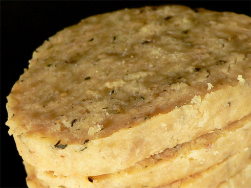 Kekse mit Kürbiskernen und Käse